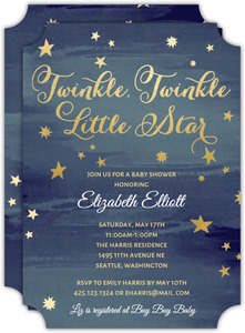 Starry Night Baby Shower Invitation