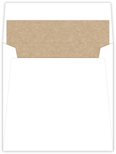 Kraft Heart Envelope Liner