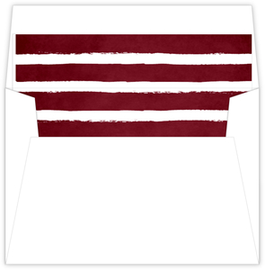 Red Chalkboard Stripes Envelope Liner
