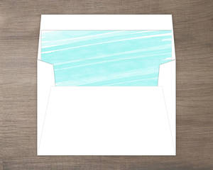 Blue Watercolor Beach Envelope Liner