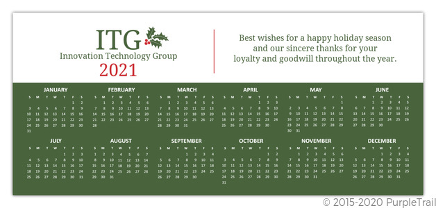 Simple business calendar holiday card business holiday cards simple business calendar holiday card reheart Image collections