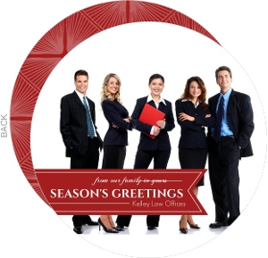 Red Banner Business Holiday Photo Card