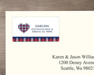 Country Tartan Plaid Address Label