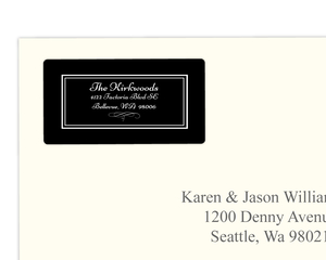 Simple Black Address Label