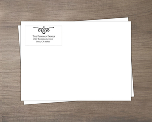 Black Swirl Return Address Only Envelope