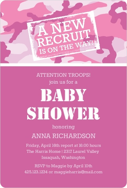 best of camo baby shower invitation for 61 free printable pink camo baby shower invitations