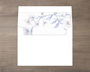 White Lilies Purple Leaves Envelope Liner