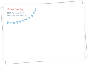 Baby Blue Nautical Return Address Envelope