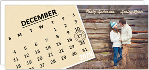 Tan Calendar Save The Date Card