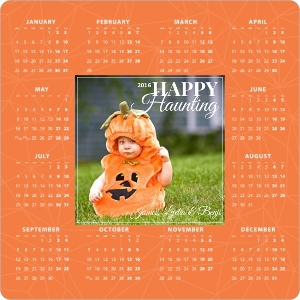 Geometric Web Halloween Greeting Magnet