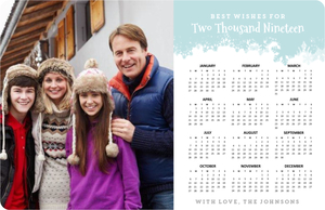 Winter Wonderland Fridge Magnet Calendar