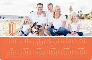 Simple Colorful Fridge Magnet Calendar
