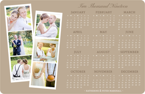 Kraft Photo Strip Fridge Magnet Calendar