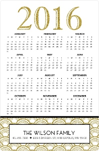 Glitter Statement Fridge Magnet Calendar