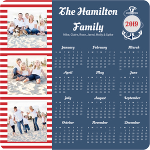 Nautical Anchor Fridge Magnet Calendar