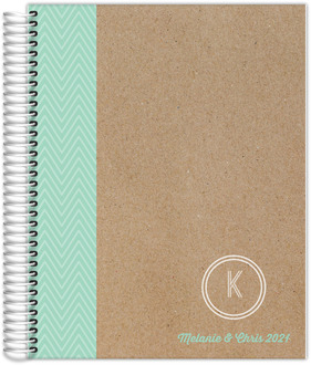 Minty Chevron Wedding Planner