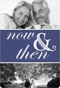 Now And Then Photo 25Th Anniversary Party Invitation Magnet
