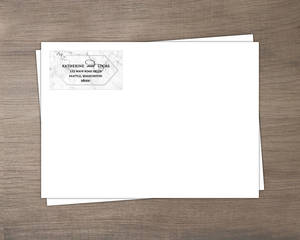 Elegant White Marble Custom Envelope