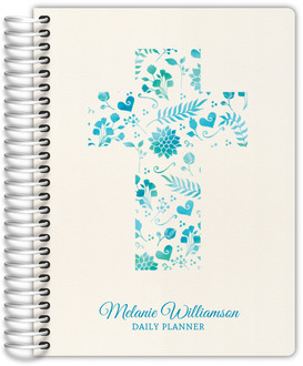 Watercolor Cross Daily Planner