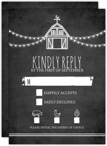 Rustic Barn Wedding Response Card