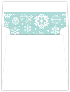 Baby Blue Snow Shower Envelope Liner
