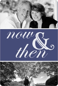 Now And Then Photo 40Th Anniversary Party Invitation Magnet