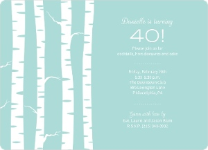 Birch Trees Winter Birthday Party Invite Magnet