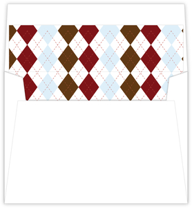 Argyle Sweater 1St Birthday Party Envelope Liner