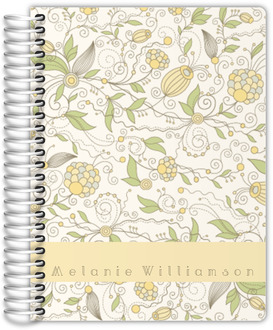 Whimsical Yellow Floral mom Planner