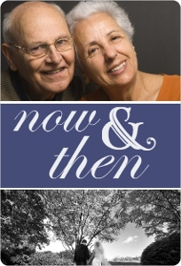 Now And Then Photo 50Th Anniversary Party Invitation Magnet