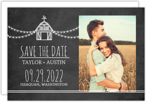 Rustic Barn Save The Date Card