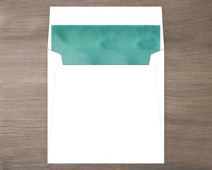 Turquoise Watercolor Envelope Liner