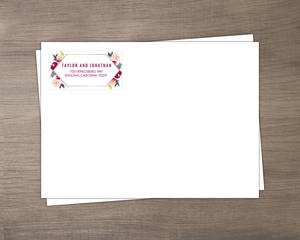 Boho Floral Wedding Envelope