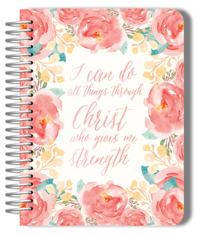 Blush Watercolor Floral Weekly Planner