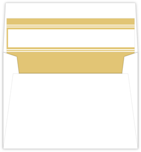 Simple Faux Gold and White Envelope Liner