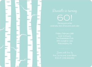 Birch Trees Winter 60Th Birthday Invite Magnet