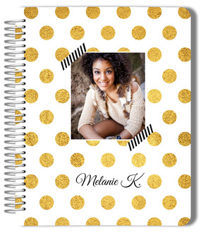 Classic Golden Polka Dot Photo Wedding Planner