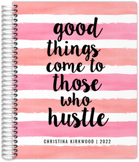 Good Things Watercolor Stripes Daily Planner