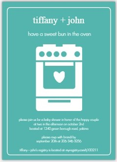 Bun in the Oven Baby Shower Invite