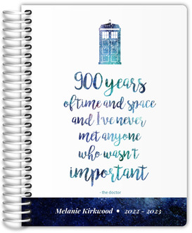 Time  Space Quote Student Planner