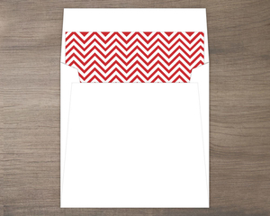 Light Gray And Red Modern Chevron Envelope Liner
