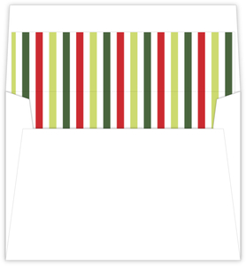 Red And Green Stripes Envelope Liner