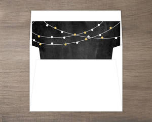 Festive Gold Lights New Years Envelope Liner