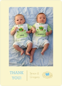 Nest Eggs Baby Shower Thank You Card Magnet