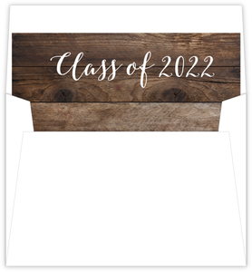 Woodgrain Triple Graduation Envelope Liner