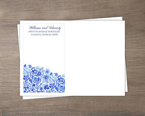 Cascading Handpainted Floral Wedding Envelope