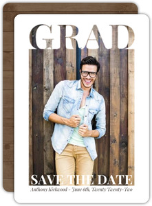 Grad Cutout Frame Graduation Save The Date