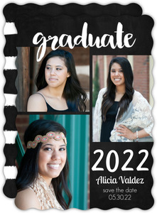 Chalkboard Graduation Save the Date Card