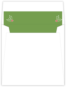 Rustic Holly Christmas Envelope Liner