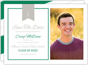 Monogram Banner Graduation Save the Date